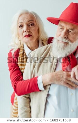 Bela mulher lábios vermelhos batom isolado branco menina Foto stock © artjazz