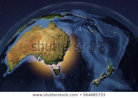 Австралия Новая Зеландия глобальный Мир карт вектора Сток-фото © fenton