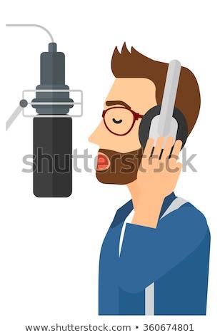 singer making record stock photo © rastudio