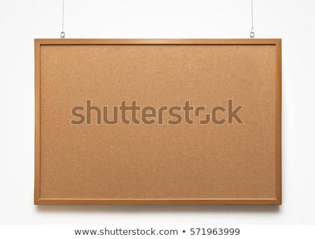 Boş mantar not tahta pin soyut Stok fotoğraf © sarahdoow