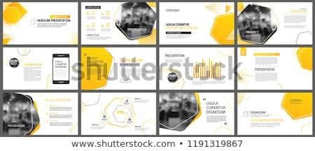 Negocios diseno plantillas folleto naranja fondos Foto stock © sdmix