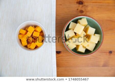 kecskesajt · tál · sajt · tányér · falatozó · stúdiófelvétel - stock fotó © digifoodstock