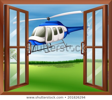 A window with a view of the chopper outside Stock photo © bluering