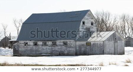 oude · schuur · dorp · New · Jersey · ijzer · industrie - stockfoto © pictureguy