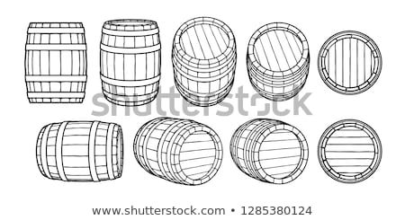 Wooden barrel vector illustration. Stock photo © RAStudio