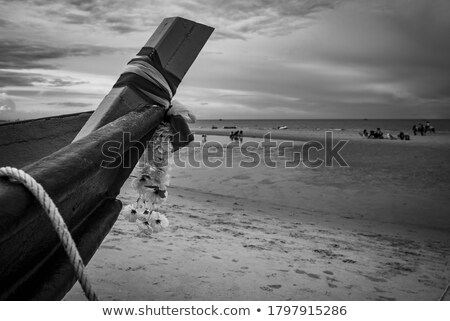 Kafa eski Taylandlı tekne deniz mavi gökyüzü Stok fotoğraf © bank215