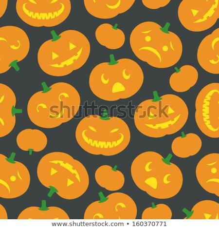 happy halloween pumpkin jack o lantern eps 8 stock photo © beholdereye