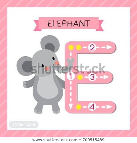Flashcard alphabet E is for elephant Stock photo © bluering