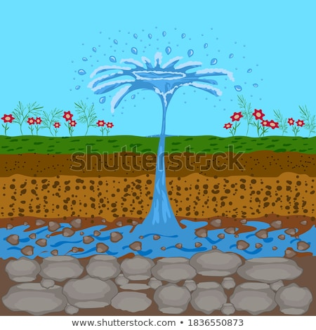 water comping out of the ground stock photo © bluering
