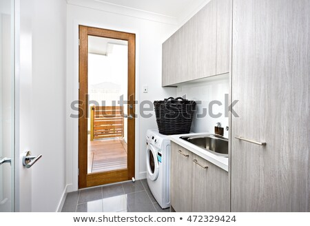 A washing area with a washing machine of a modern house stock photo © jrstock