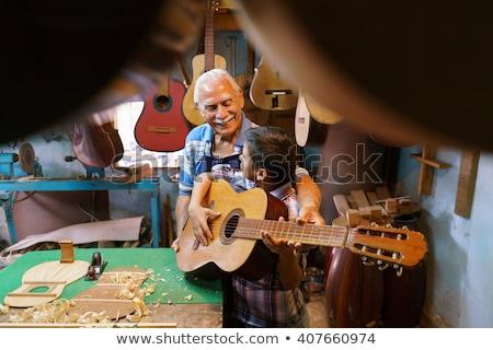 zenész · játszik · elektomos · gitár · színpad · férfi - stock fotó © pressmaster