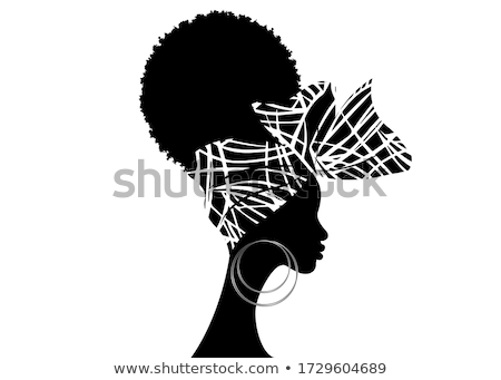 afro hair isolated traditional african american hairstyle on wh stock photo © popaukropa