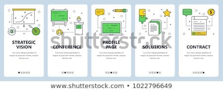 contrato · empresário · mãos · negócio · papel - foto stock © kali
