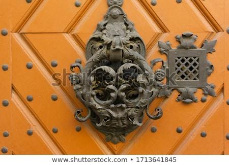 velho · tradicional · porta · edifício · fachada - foto stock © smuki
