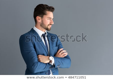 side view of an elegant man in suit and tie  Stock photo © feedough