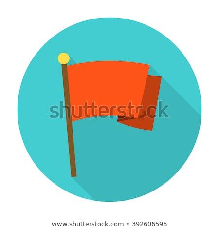 banderą · wektora · ikona · projektu · czerwony · stylu - zdjęcia stock © creativika
