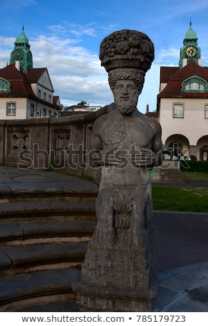 famous art nouveau statue at sprudelhof in bad nauheim stock photo © meinzahn