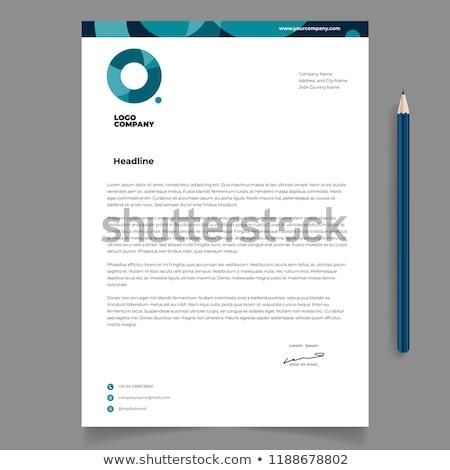 現代 青 サークル レターヘッド テンプレート デザイン ストックフォト © SArts