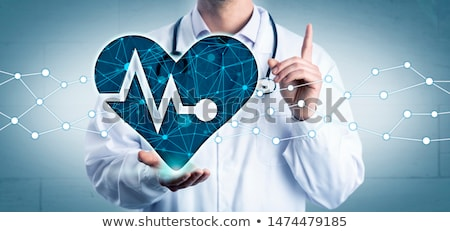 gezondheid · kaart · man · hartaanval · illustratie · medische - stockfoto © tefi