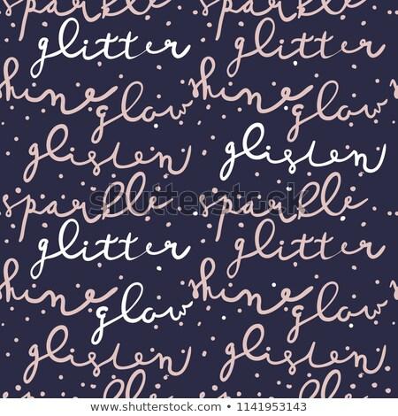 bleu · glitter · vecteur · invitation · vente - photo stock © Nadiinko
