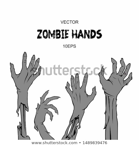 Human Brains in Zombie Hand Vector Illustration Stock photo © robuart