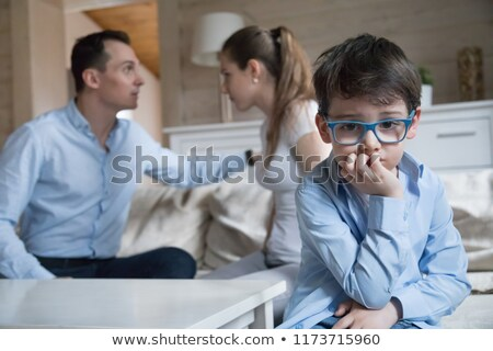 divorce effect on kids concept with thoughtful boy stock photo © ilona75