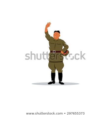Kim Jong-un with Nuclear Missile Cartoon Vector Illustration. April 27, 2017 Stock photo © doddis