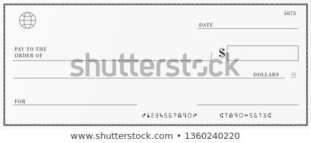 Książeczkę czekową pióro biały Zdjęcia stock © devon