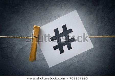 hashtag as viral web social media network concept stock photo © stevanovicigor