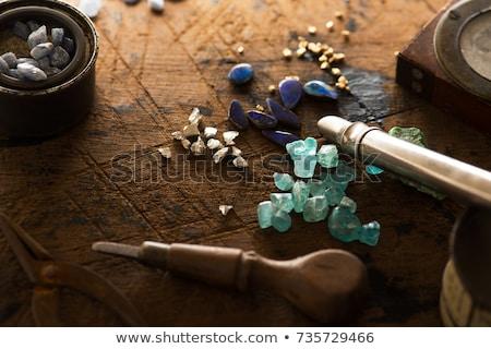 Drágakövek gyémánt zafír rubin smaragd 3D Stock fotó © AnatolyM