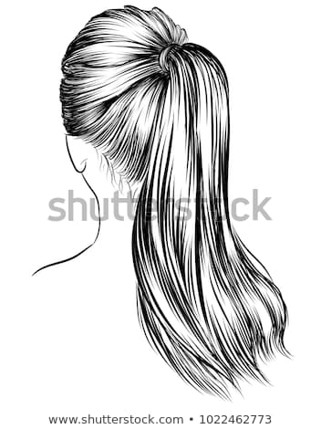 Vector hand drawn pop art illustration of young woman with the L Stock photo © curiosity