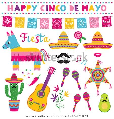 Stock fotó: Mexikói · gyerekek · zászló · illusztráció · gyermek · háttér