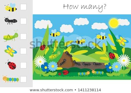 Projeto muitos insetos ilustração natureza paisagem Foto stock © bluering