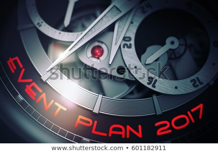 development plan 2017 on watch face 3d illustration stock photo © tashatuvango