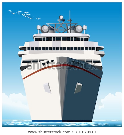 Stylized ocean liner Stock photo © tracer