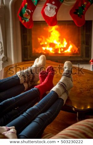 burning log fire vertical Stock photo © romvo