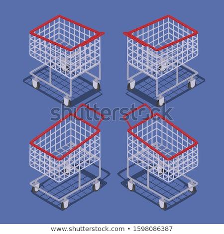 изометрический пусто Корзина супермаркета местный магазине Сток-фото © Genestro