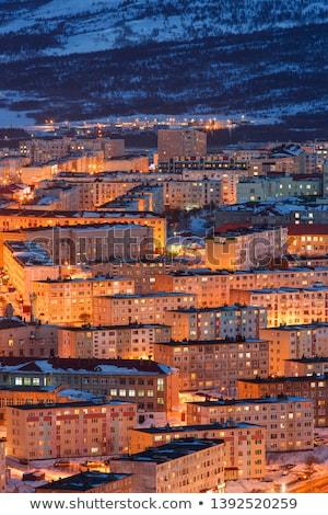 Luzes da cidade elementos imagem nuvens mapa luz Foto stock © ixstudio