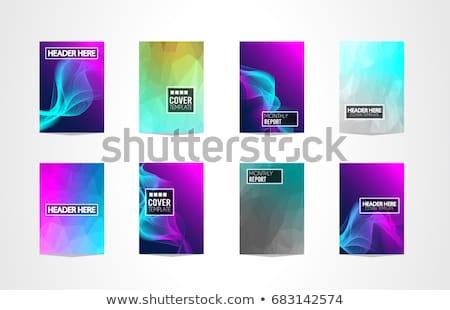 eğim · sıvı · poster · ayarlamak · vektör · serin - stok fotoğraf © davidarts