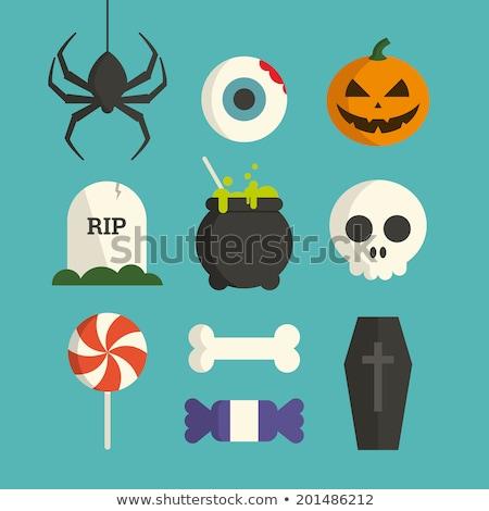 Skull Flat Vector Icon Stock photo © ahasoft