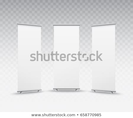 white roll up standee banner vector design for your business pre Stock photo © SArts