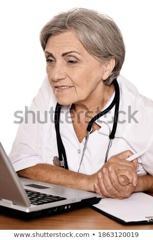 lekarza · kobieta · kubek · analiza · mocz · sperma - zdjęcia stock © leedsn