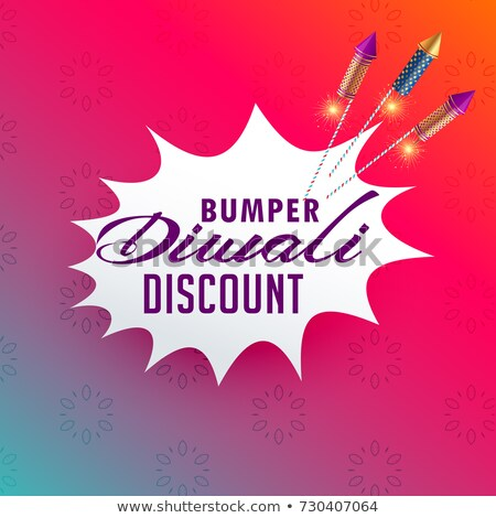 vibrant diwali sale and discount poster design with fireworks ro stock photo © sarts