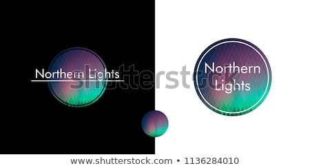 Black rhombus with northern lights Stock photo © blackmoon979