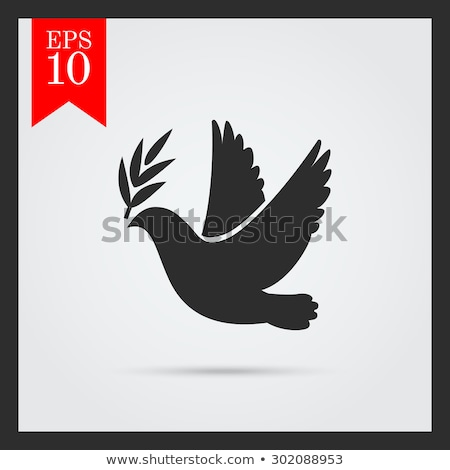 béke · galamb · stílus · vektor · ikon · logo - stock fotó © olena