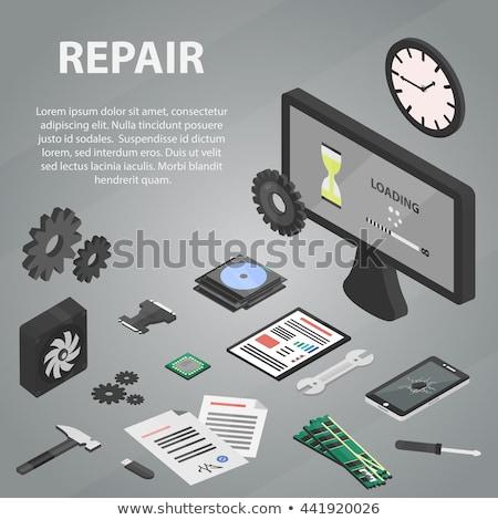 SSD Concept. Poster in Flat Design.  Stock photo © tashatuvango