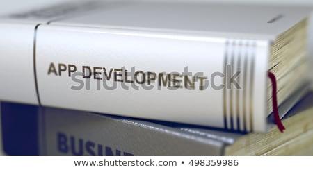 App fejlesztés könyv cím gerincoszlop 3D Stock fotó © tashatuvango