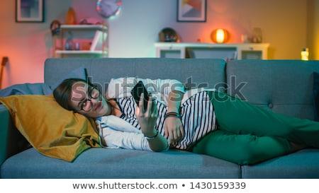 nieszczęśliwy · samotny · depresji · kobieta · domu · salon - zdjęcia stock © monkey_business