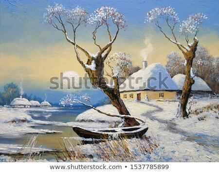 Arte invierno paisaje congelado campo hielo Foto stock © Konstanttin
