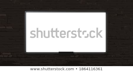 Blank board on brickwall Stock photo © bluering